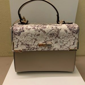 Dune London Handbag Toupe Floral with Coin Purse
